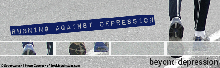 running against depression