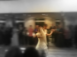 A neat picture I accidentally captured (at least I think it's neat) that just reminds me how fast life can go sometimes, and how much these moments matter. From Maike and Sorën's first dance at their reception.