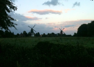 Some of the windmills of Ost Friesland, which is near the border with the Netherlands.