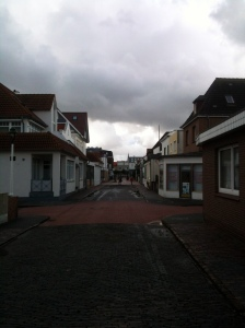 A cobble stone street on the island of Nordeney.