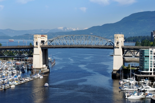 Vancouver's Burrard Bridge, the Sun Run crosses False Creek here. © Ramunas | Dreamstime Stock Photos & Stock Free Images